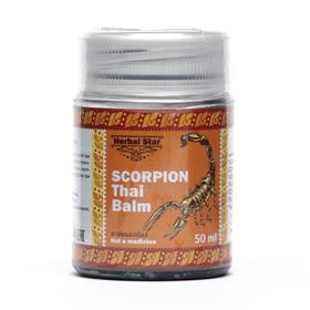 Тайский бальзам для суставов Herbal Star «Скорпион», при радикулите, ревматизме и остеохондрозе, 50 мл