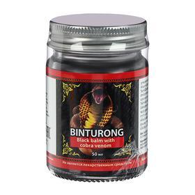 Чёрный бальзам с ядом кобры Binturong, при внутримышечных болях и воспалениях, 50 г