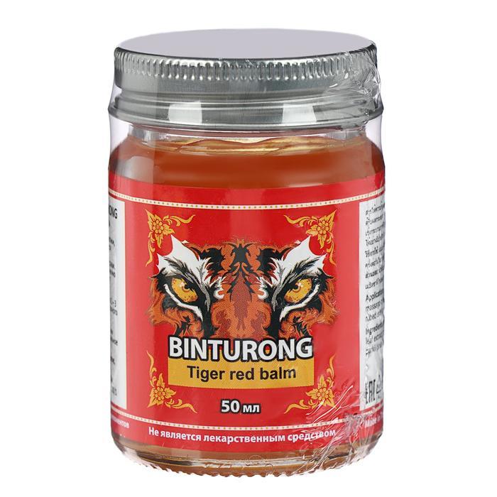 Бальзам Binturong Tiger Red Balm, разогревающий, от ушибов и растяжений, 50 г