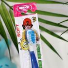 Детская зубная щётка «Ассорти»,двухкомпонентная ручка, мягкая щетина - Фото 3