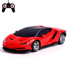 Машина радиоуправляемая Lamborghini Centenario, масштаб 1:24, работает от батареек, световые эффекты, МИКС