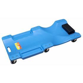 Лежак для автослесаря KINGTUL KT-2007-5, пластиковый, на 6-ти колесах 40' Ош