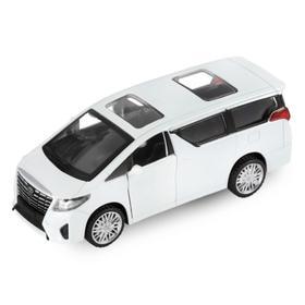 Машина металлическая Toyota Alphard 1:42, инерция, открываются двери, цвет белый