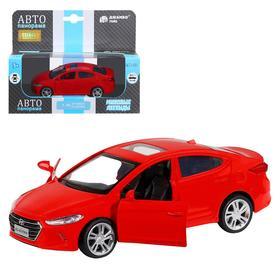 Машина металлическая Hyundai Elantra, 1:39, инерция, открываются двери, цвет красный