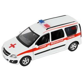 Машина металлическая «Lada Largus Скорая помощь» 1:24, открываются двери, капот, багажник, световые и звуковые эффекты