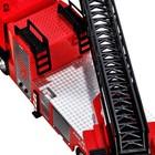Машина металлическая «Volvo Пожарная», 1:50, откидная кабина, выдвижная лестница, световые и звуковые эффекты, цвет красный - Фото 7