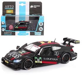 Машина металлическая Mercedes-AMG C 63 DTM1:32,открываютсяперед двери, световые и звуковые эффекты, инерция, цвет чёрный