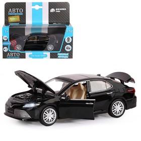 Машина металлическая Toyota Camry, 1:32,инерц, световые и звуковые эффекты, открываются двери, цвет чёрный