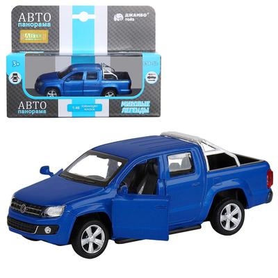 Машина металлическая Volkswagen Amarok 1:46, инерция, открываются двери, цвет синий - Фото 1