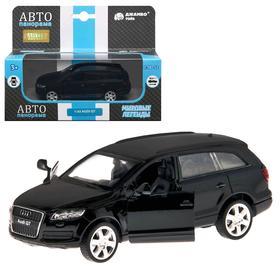 Машина металлическая Audi Q7 1:43, инерция, открываются двери, цвет чёрный