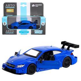Машина металлическая Mercedes-AMG C 63 DTM 1:43, инерция, открываются двери, цвет синий