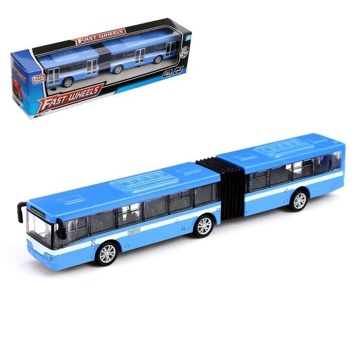 Автобус металлический «Город», масштаб 1:43, инерция, МИКС