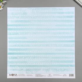 """Бумага для скрапбукинга """"Узоры на окне"""" 30,5х30,5 см 190гр/м2"""