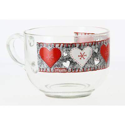 Чашка для завтрака «Войлочные сердечки» 700 мл - Фото 1