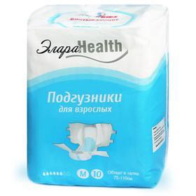 Подгузники для взрослых ЭлараHEALTH - M, 10шт