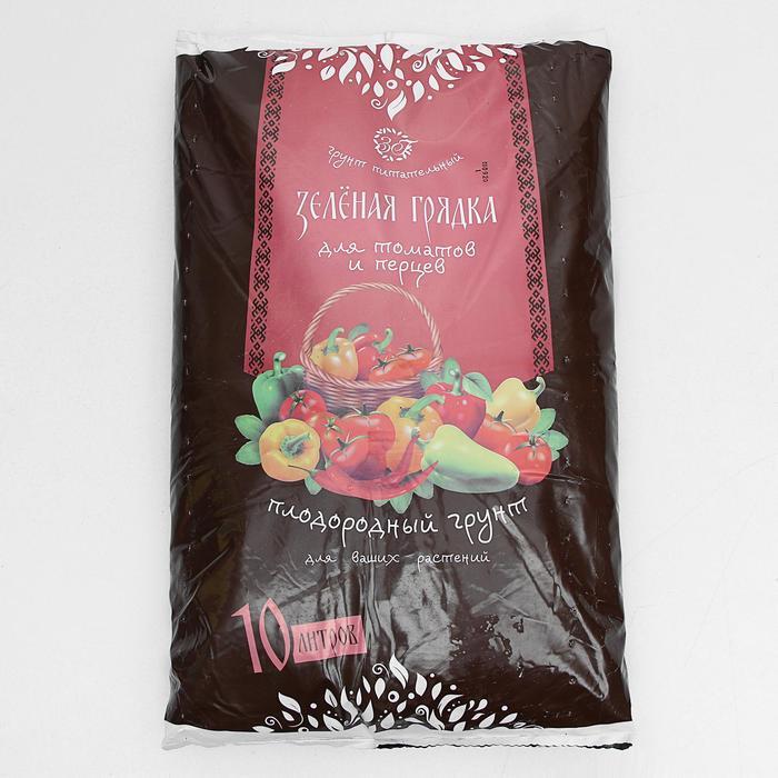 """Грунт для рассады томатов и перцев """"Зеленая грядка"""", 10 л"""