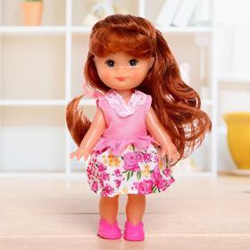"""Кукла классичская """"Крошка Сью"""" в платье, 17 см, МИКС"""