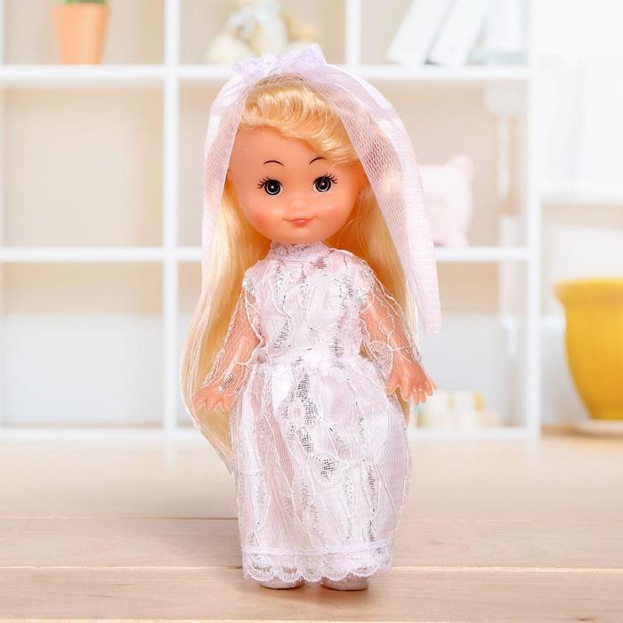Кукла классическая Крошка Сью в платье, 17 см, МИКС