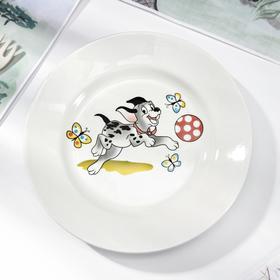 Тарелка мелкая «Озорные щенки», d=17,5 см