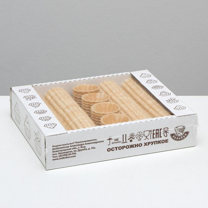 Вафельные тарталетки, 192 шт, 384 г