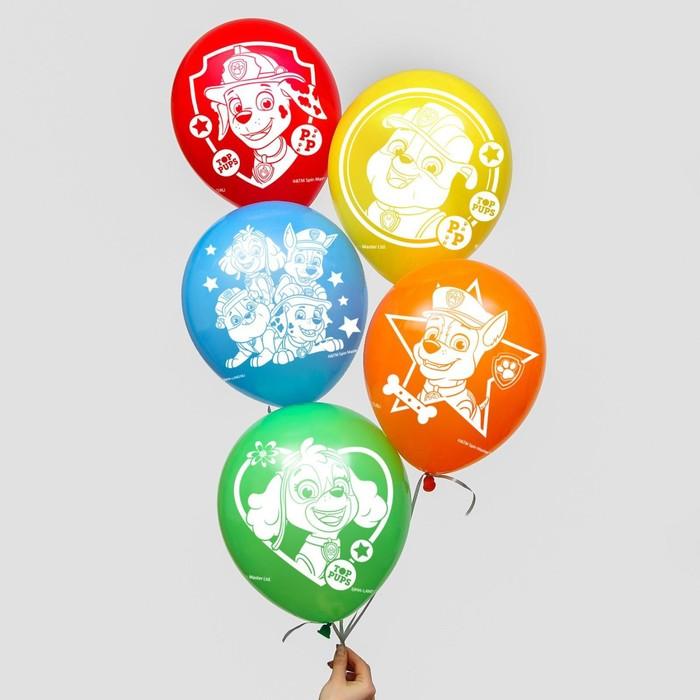 """Воздушные шары """"Paw patrol"""", Щенячий патруль (набор 25 шт) 12 дюйм"""