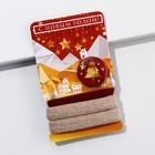 Набор резинок + значок  «Новогодние узоры», 6 х 9,8 см