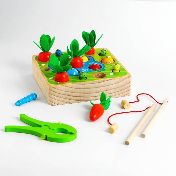 Детский развивающий набор «Рыбалка + морковки» 15,5х15,5х4 см