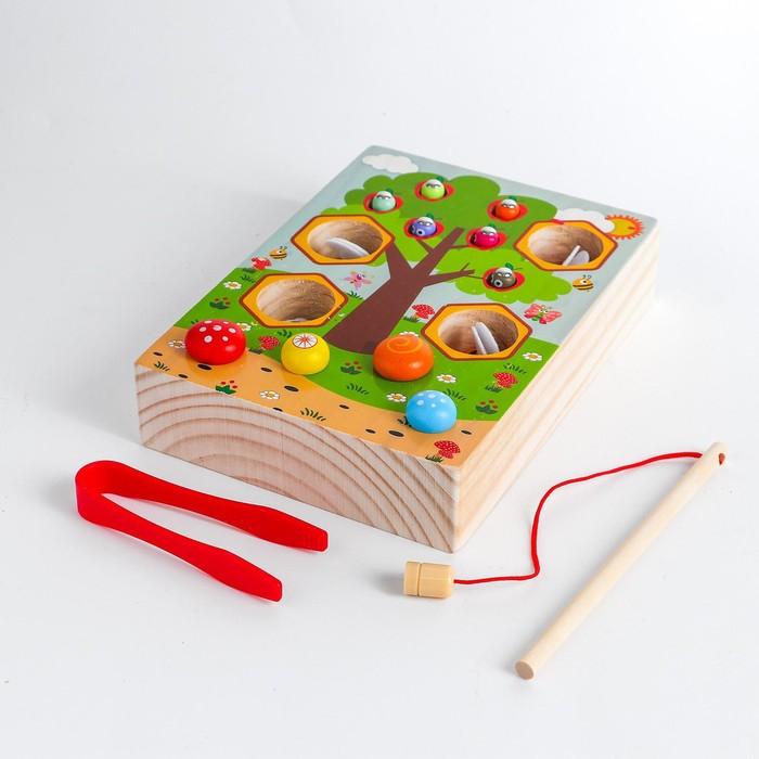 Детский развивающий набор «Рыбалка + грибы + пчёлки» 14,2х19,5х4 см