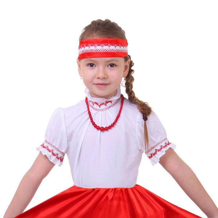 Карнавальная блузка, р. 30, цвет белый