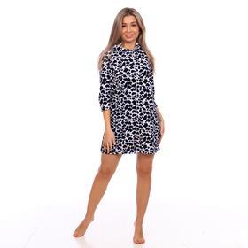 Халат женский, цвет леопард, размер 46