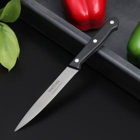 Нож кухонный Труд Вача «Европа», овощной, лезвие 12 см, цвет чёрный