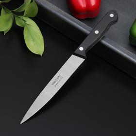 Нож кухонный Труд Вача «Европа», универсальный, лезвие 15 см, цвет чёрный