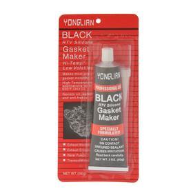 Герметик прокладок YONGLIAN, силиконовый, 50 г, черный Ош