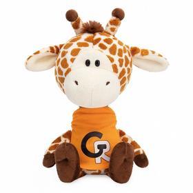 Мягкая игрушка «Жирафик Жан в оранжевой футболке», 15 см
