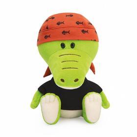 Мягкая игрушка «Крокодильчик Кики в черной футболке и бандане», 15 см