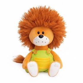 Мягкая игрушка «Львёнок Лью в комбинезоне с жёлтыми пуговицами», 15 см