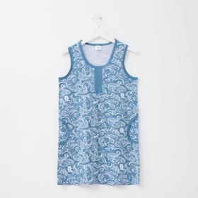 Туника женская, цвет голубой, размер 44