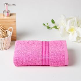 Полотенце махровое АФИНА 03-058 40х70 см, розовый, хлопок 100%, 430г/м2