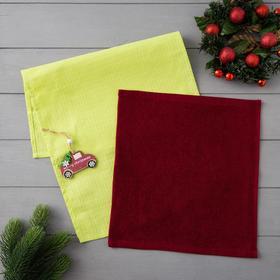 Набор полотенец LoveLife «Новогоднее чудо» (вид 1) : вафля 35*60 см, махра 30*30 см + игрушка Ош