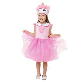 Карнавальный костюм «Кошка Милашка», платье, шапка, р.26, рост 104 см