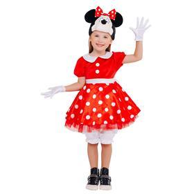 Карнавальный костюм «Минни Маус», платье, шапка, панталоны, р.26, рост 104 см