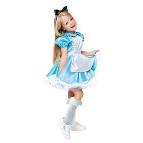 Карнавальный костюм «Алиса в стране чудес»,  платье, ободок, р.28, рост 110 см