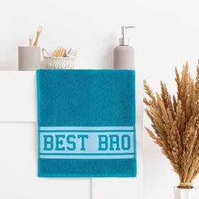 """Полотенце махровое """"Best Bro"""" 30х70 см, 100% хл, 370гр/м2"""