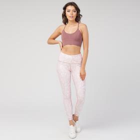 Топ-бра женский спортивный, цвет коричнево-розовый, размер 40-42 (S)