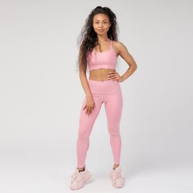 Леггинсы женские спортивные, цвет розовый, размер 48-50 (L)