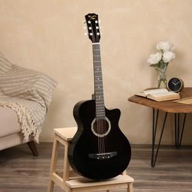 купить Гитара акустическая черная, 6-ти струнная 96 см