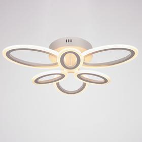 Люстра с ПДУ 77880 96Вт LED 3000-6000К, белый, диммир., белый 12х56 см