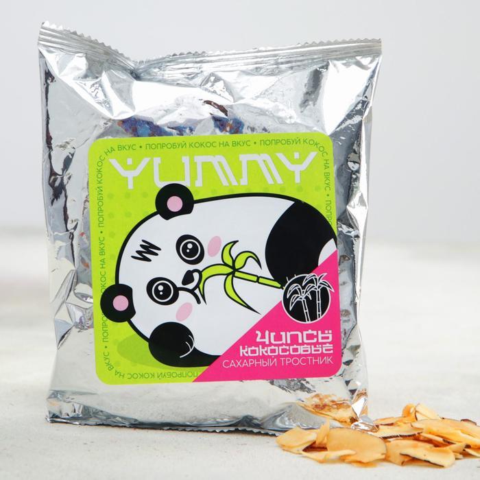 Кокосовые чипсы «Панда»: с сахарным тростником, 40 г.