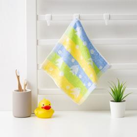 Полотенце махровое Крошка Я 'Рыбки' 25*25 см, цв.желтый/синий, 100% хлопок, 360 гр/м2 Ош