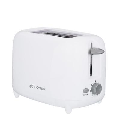 Тостер HOTTEK HT-979-100, 750 Вт, 7 уровней поджарки, белый